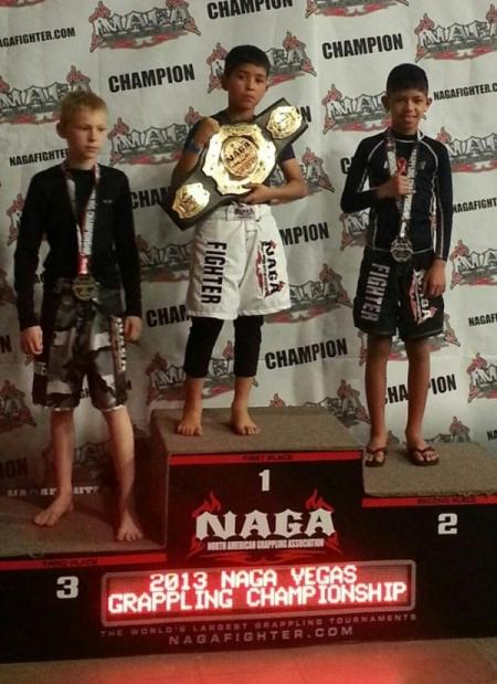 Las Vegas NAGA no gi and gi Champion Damian Espinoza
